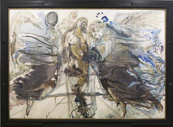 Acuarela Metamorfosis de ángeles en mariposas, 1973. Dalí. Ampliación del Museo de Bellas Artes de Asturias / © Mercedes Peláez-