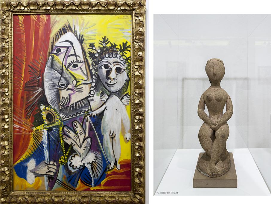 Mosquetero con espada y amorcillo, 1969. Pablo Picasso. El ídolo, 1943. Baltasar Lobo. Ampliación del museo de Bellas Artes de Asturias / © Mercedes Peláez.