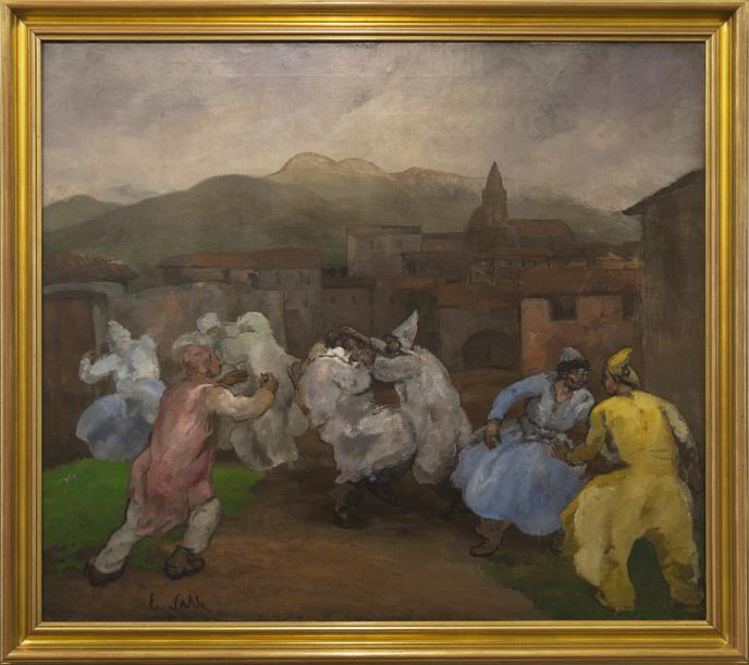 Carnavalada, 1928. Evaristo Valle. Ampliación del Museo de Bellas Artes de Asturias / © Mercedes Peláez.