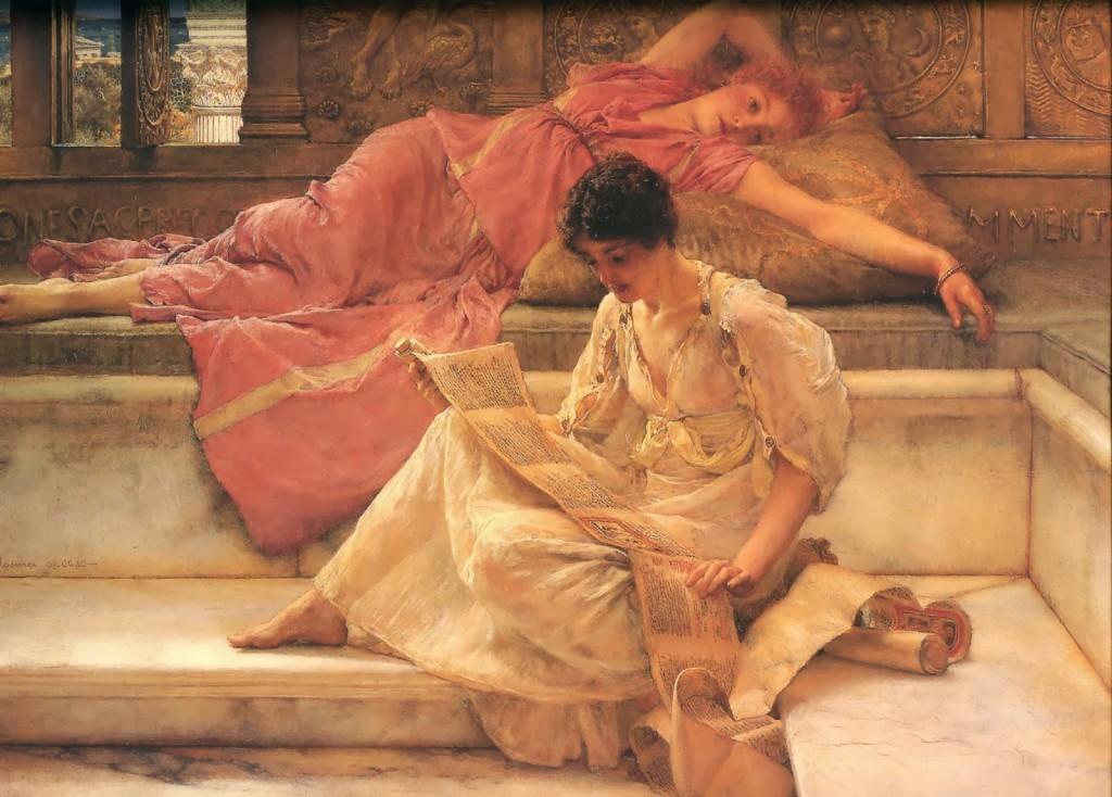 El poeta favorito, por Lawrence Alma-Tadema, 1888.
