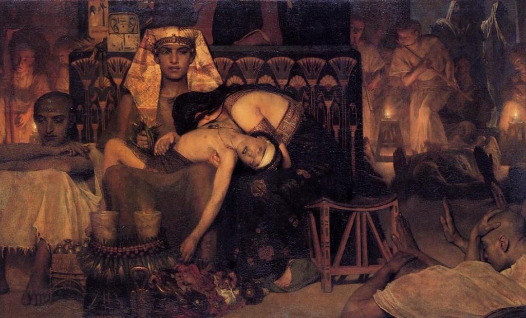 La muerte del primogénito, por Lawrence Alma-Tadema, 1873.