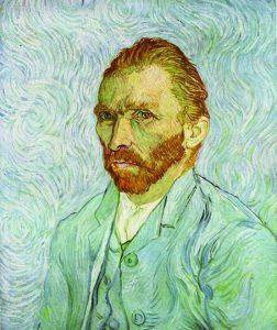 Autorretrato, por Vincent van Gogh, Saint-Rémy, septiembre 1889, óleo sobre tela, París, Museo de Orsay.
