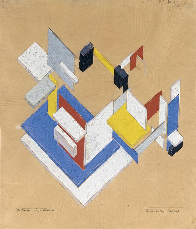 Construción-espacioempoal-II-1924-por-Theo-Van-Doesburg.