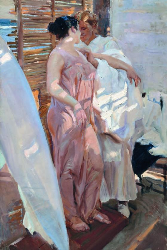 Después del baño o La bata rosa, por Joaquín Sorolla, 1916. Museo Sorolla. Madrid.