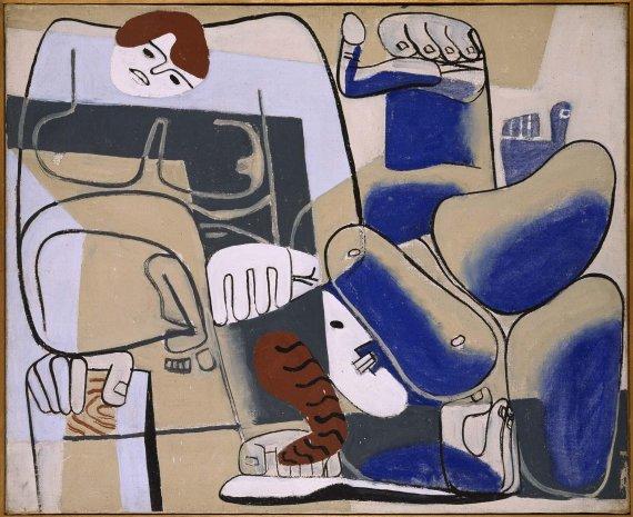 La caída de Barcelona II, por Le Corbusier (Charles-Edouard Jeanneret), 1939. Museo Nacional Centro de Arte Reina Sofía.