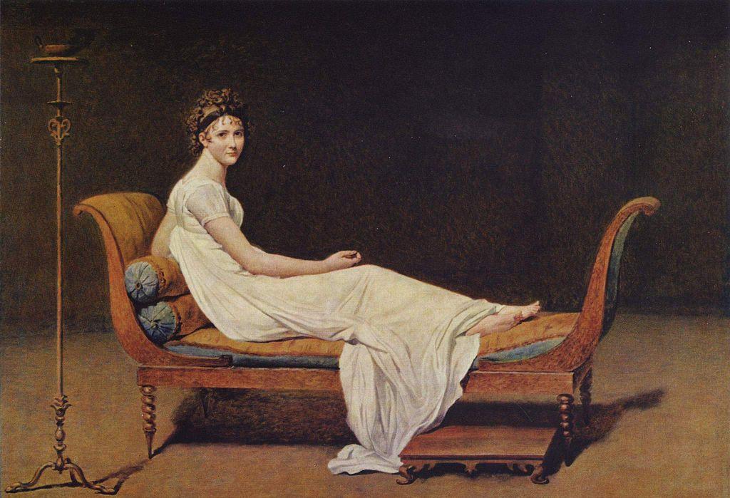 Madame Récamier, por Jacques-Louis David, 1800. Museo del Louvre, París.