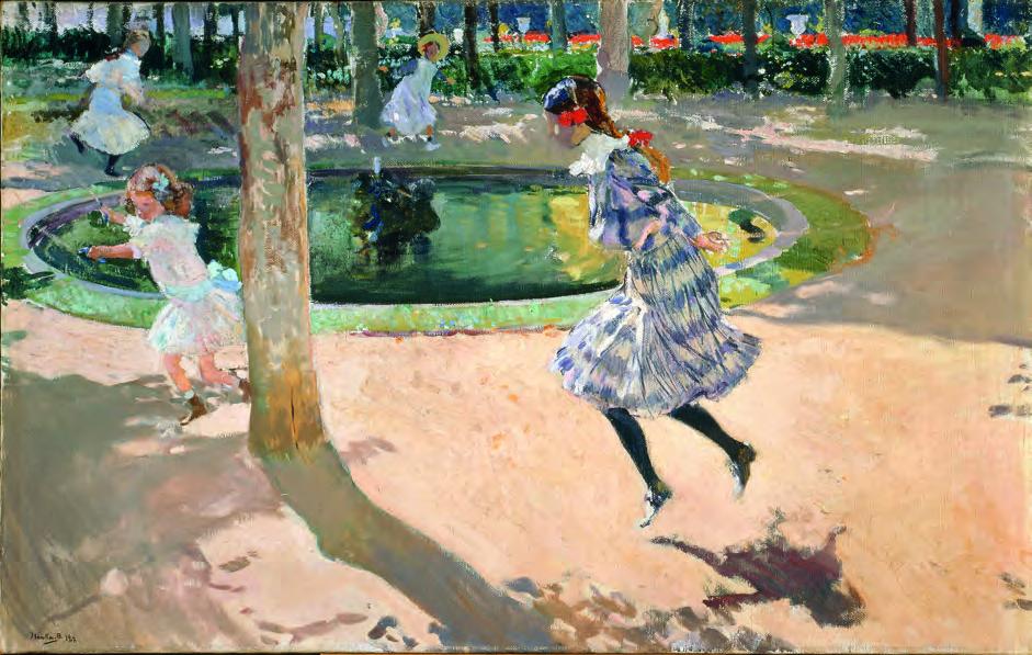 Saltando a la comba, La Granja, por Joaquín Sorolla, 1907. Museo Sorolla. Madrid.