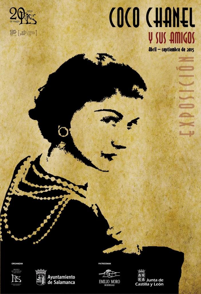 Cartel de la exposición Coco Chanel y sus amigos.