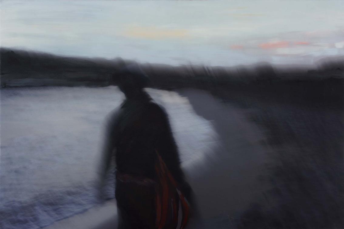 Menorca, Luis paseando, de Pilar Perea Moreno, ganadora de la edición XXIV Premio de Pintura, 2009.