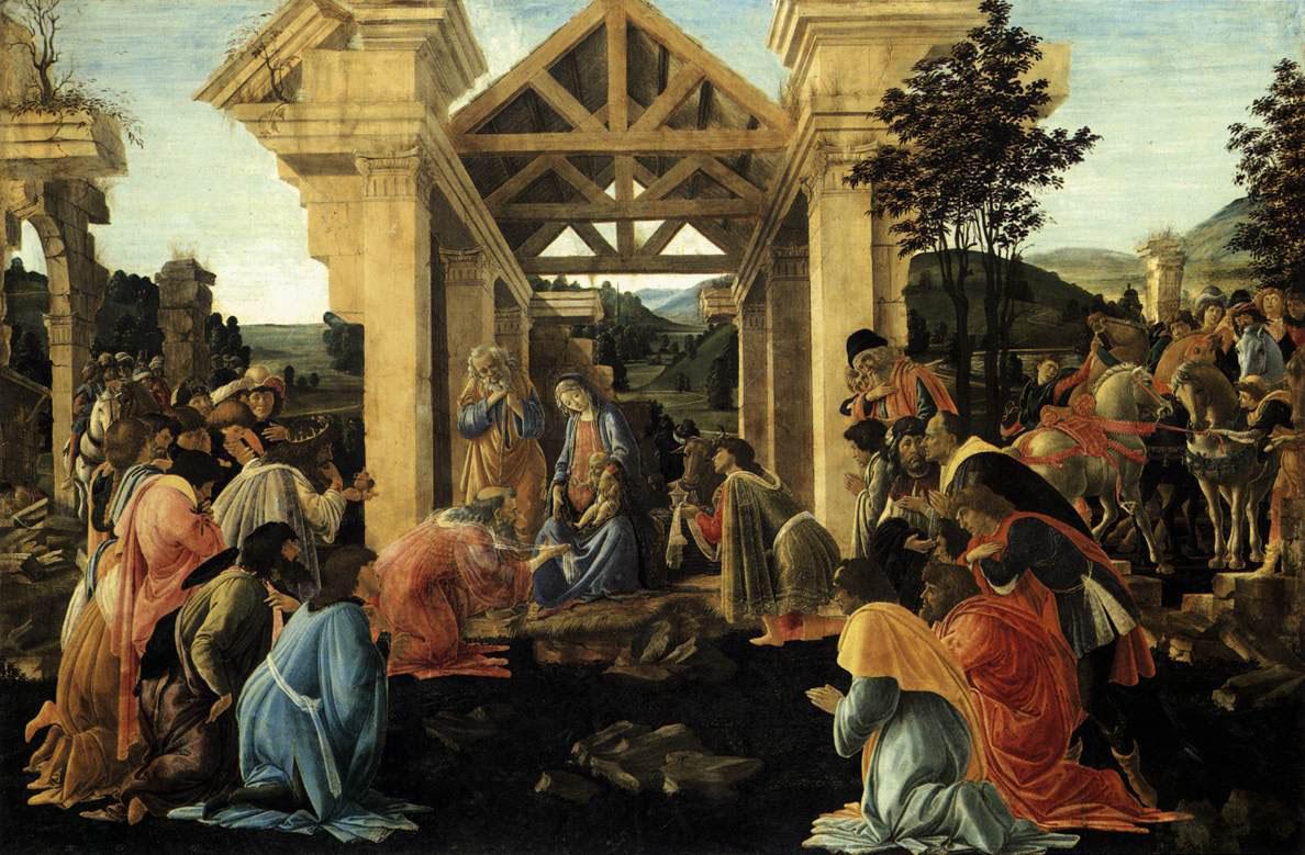 Adoración de los Reyes Magos, Galería de los Uffizi, Florencia.