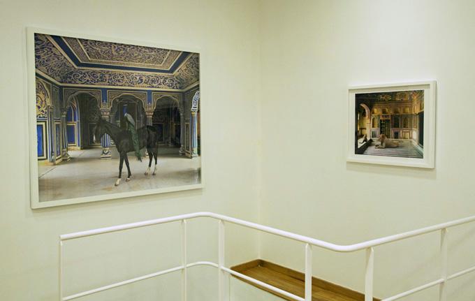 Vista de la exposición India Song, de Karen Knorr en la galería Slowtrack.