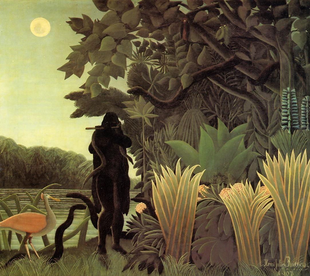 La encantadora de serpientes, óleo sobre lienzo, 1907.