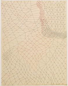 Sin título, por Gego, 1970, tinta sobre papel, 63,5 x 50,8 cm.