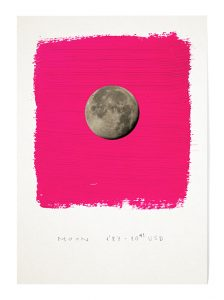 A Plot on Mars_2, por Rubén Martín de Lucas, impresión digital sobre papel intervenida con óleo y lápiz, 42 x 29 cm.