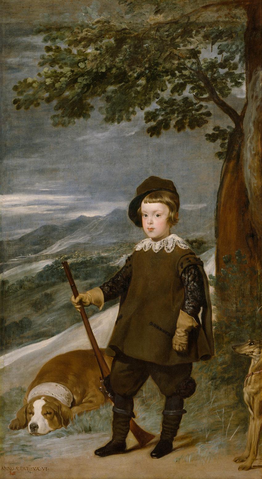 Baltasar Carlos, cazador, de Velázquez, Madrid, Museo del Prado.