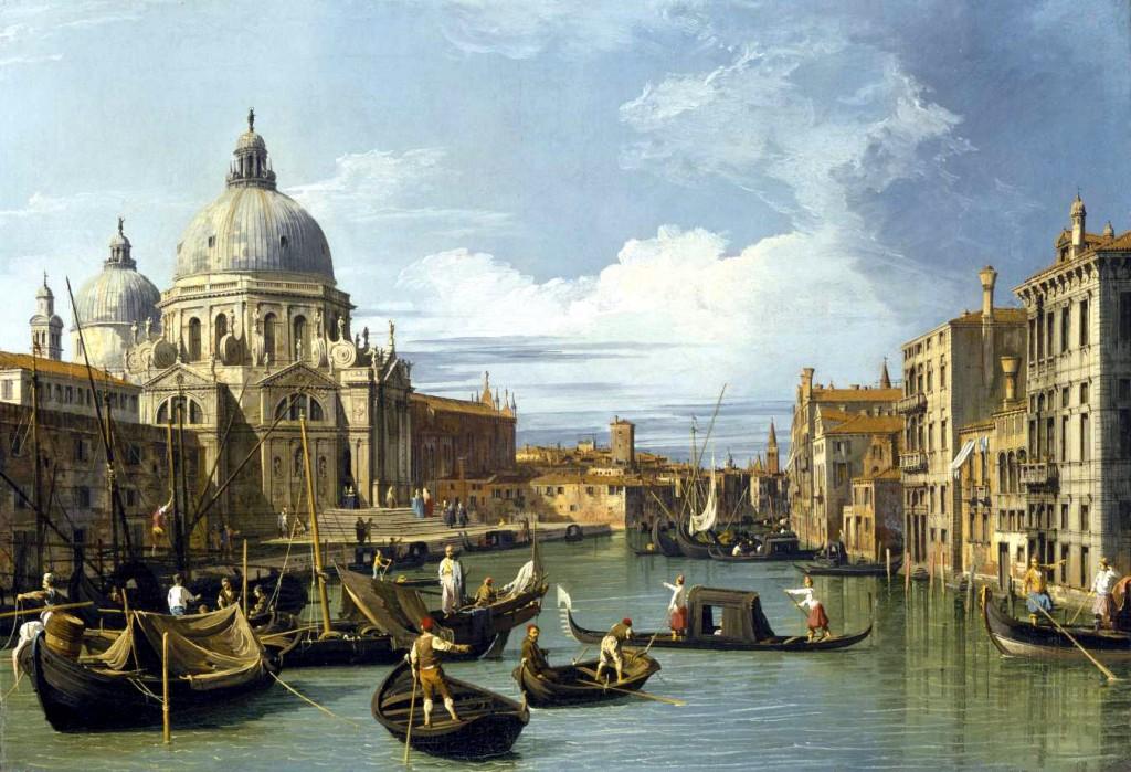 Canaletto, entrada al gran canal