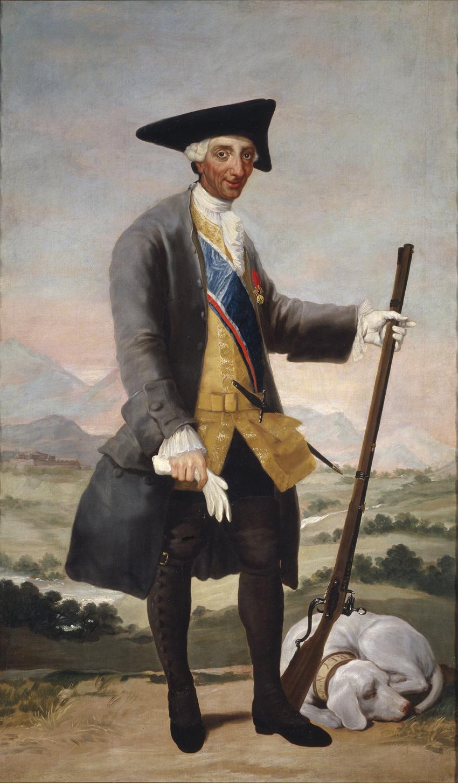 Carlos III, cazador, de Goya, Madrid, Museo del Prado.