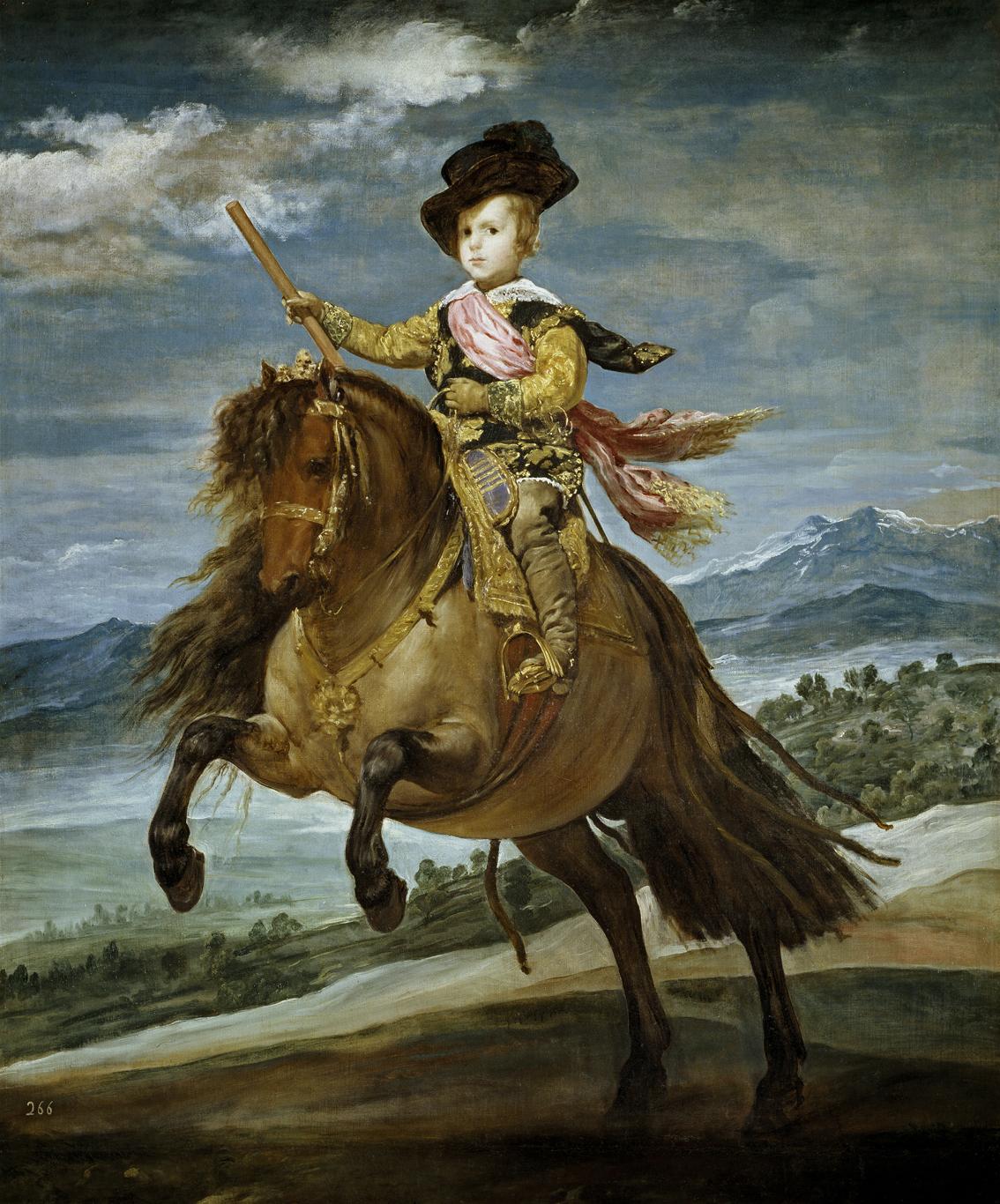 El Príncipe Baltasar carlos, cazador, de Velázquez, 1635-36, óleo sobre lienzo, 191 x 103 cm, Madrid, Museo del Prado.