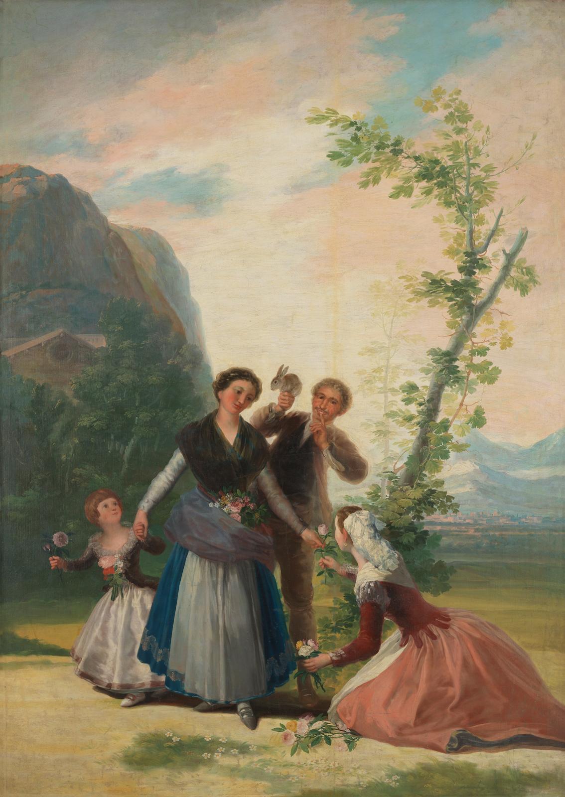 La primavera, de Goya, Madrid, Museo del Prado.