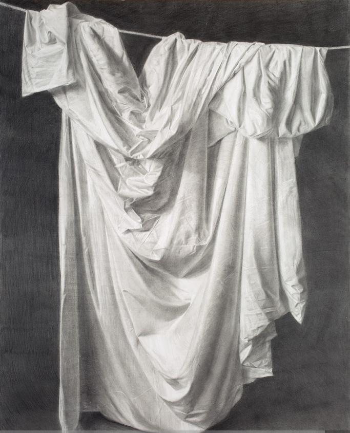 San Serapio, grafito sobre papel, 160 x 122 cm.