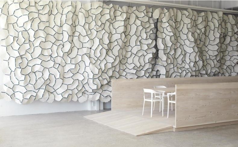 Showroom en Copenhague de Kvadrat con las piezas Clouds de Ronan y Erwan Bouroullec.