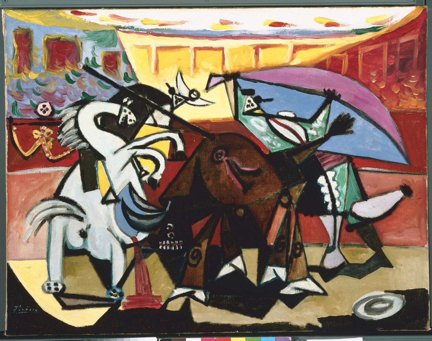 Tauromachia, 1934, por Pablo Picasso, óleo sobre lienzo, 49,8 x 65,4 cm, The Phillips Collection, Washington, D.C., adquirido en 1937.