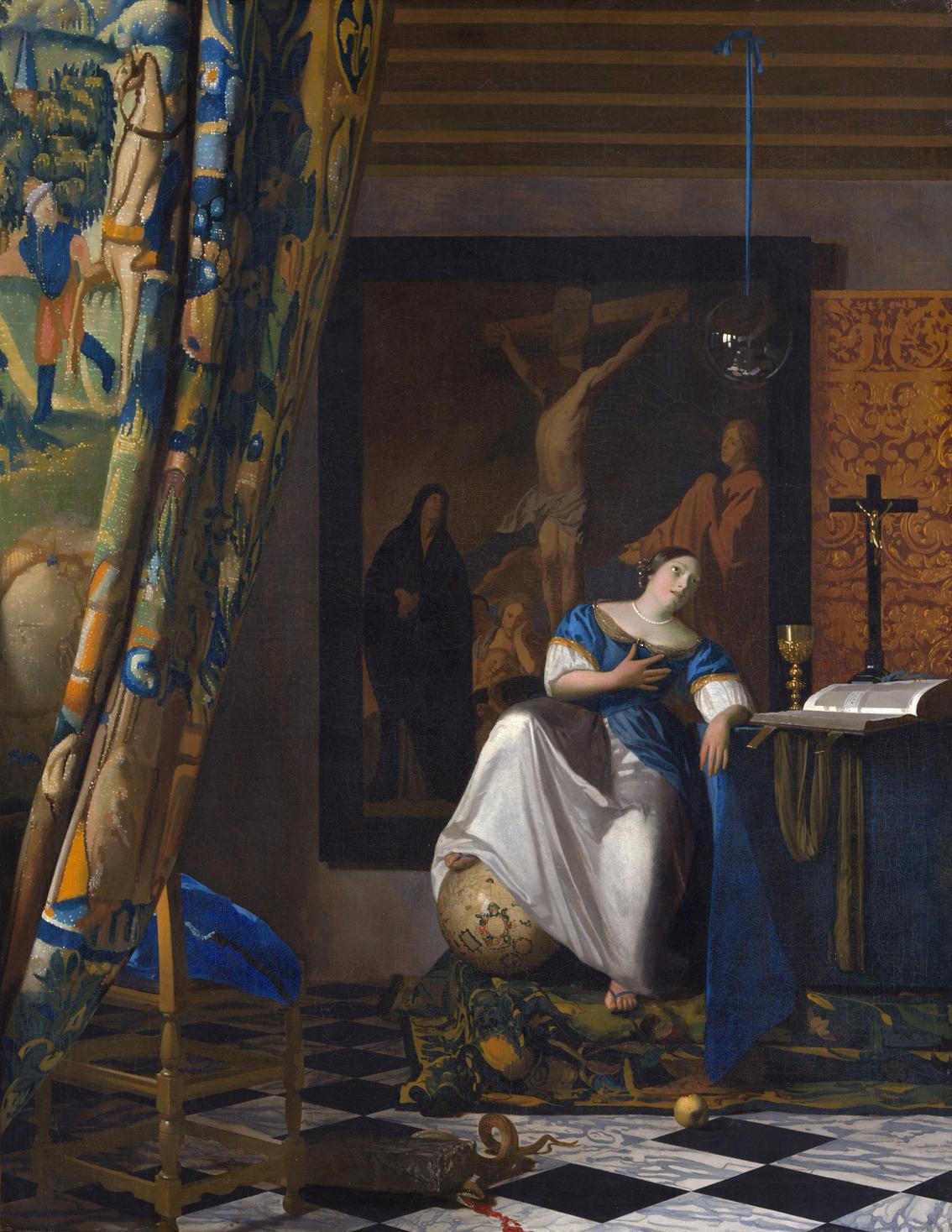 Alegoría de la fe, h. 1670-72, óleo sobre lienzo, 114.3 x 88.9 cm, Nueva York, Metropolitan Museum of Art.