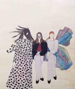 Las princesas delicadas, obra de Estefanía Martín Sáenz, ganadora del I Premio de Dibujo DKV-MAKMA.