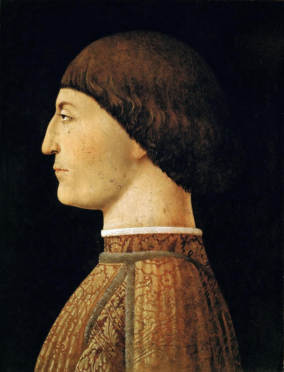 Retrato de Segismundo Pandolfo Malatesta, 1451, óleo y temple sobre tabla, 44,5 x 34,5 cm, París, Museo del Louvre.