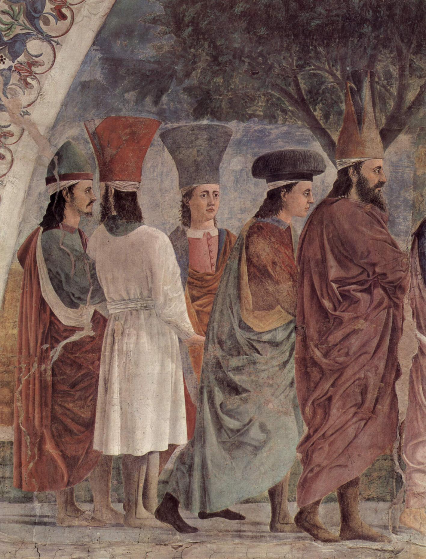 Detalle de la Vera Cruz, Arrezzo.