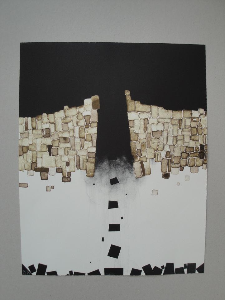 Pontón, por Miriam Cantera, grabado al aguafuerte. Alomar Ediciones.