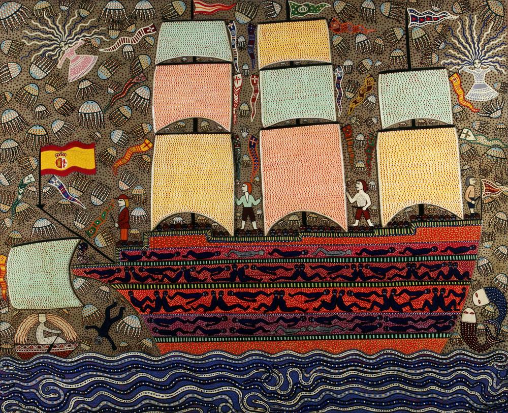 Barco negrero, serigrafía, 61 x 76 cm, 2011.