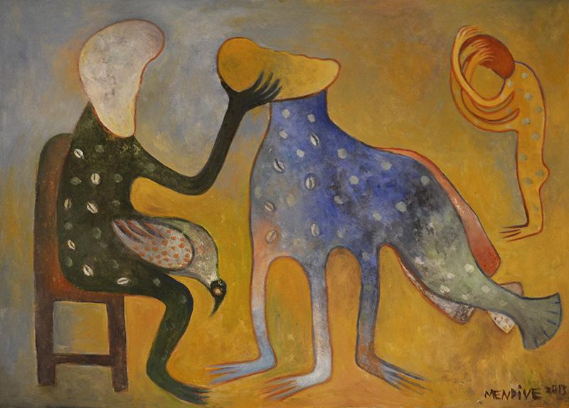 Los recuerdos, acrílico sobre lienzo, 41 x 51 cm, 2013.