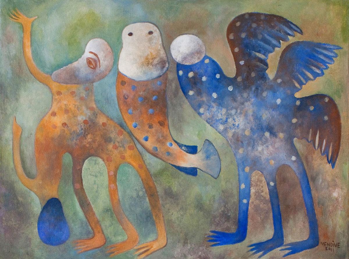 Mi energía y yo, acrílico sobre lienzo, 59 x 80 cm, 2011.