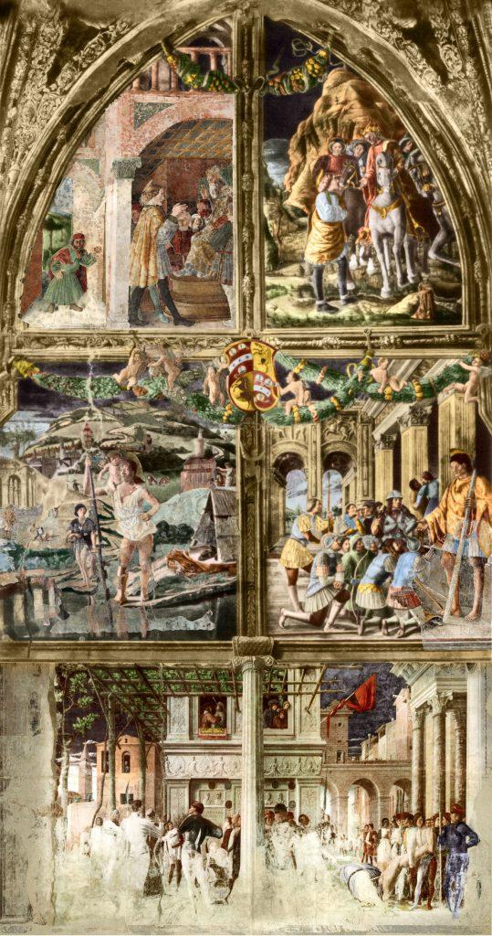 Historia de san Cristoforo, Capilla Ovetari.
