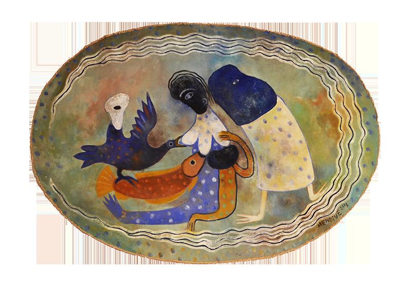 Vitalidad del agua, acrílico sobre lienzo, 55 x 80 cm, 2013.