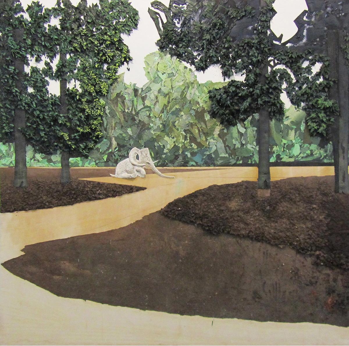 Elefant Óleo sobre lienzo 200 cm x 200 cm 2011