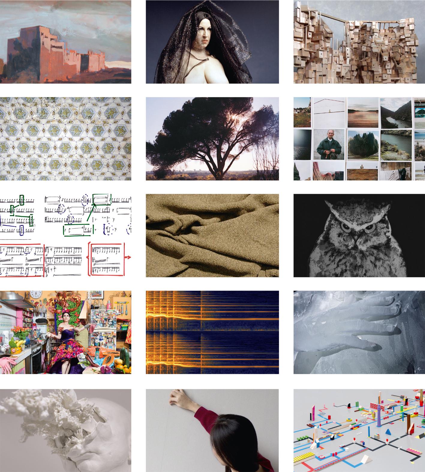 Collage con las obras que podrán verse en esta jornada.