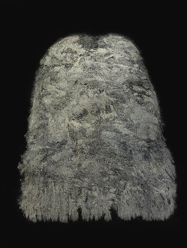 Le cape, de Muriel Moreau, aguafuerte en relieve, 120 cm x 89 cm, 2015, en