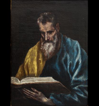 San Simón, por el Greco, óleo sobre lienzo, 39,5 x 29,5 cm.