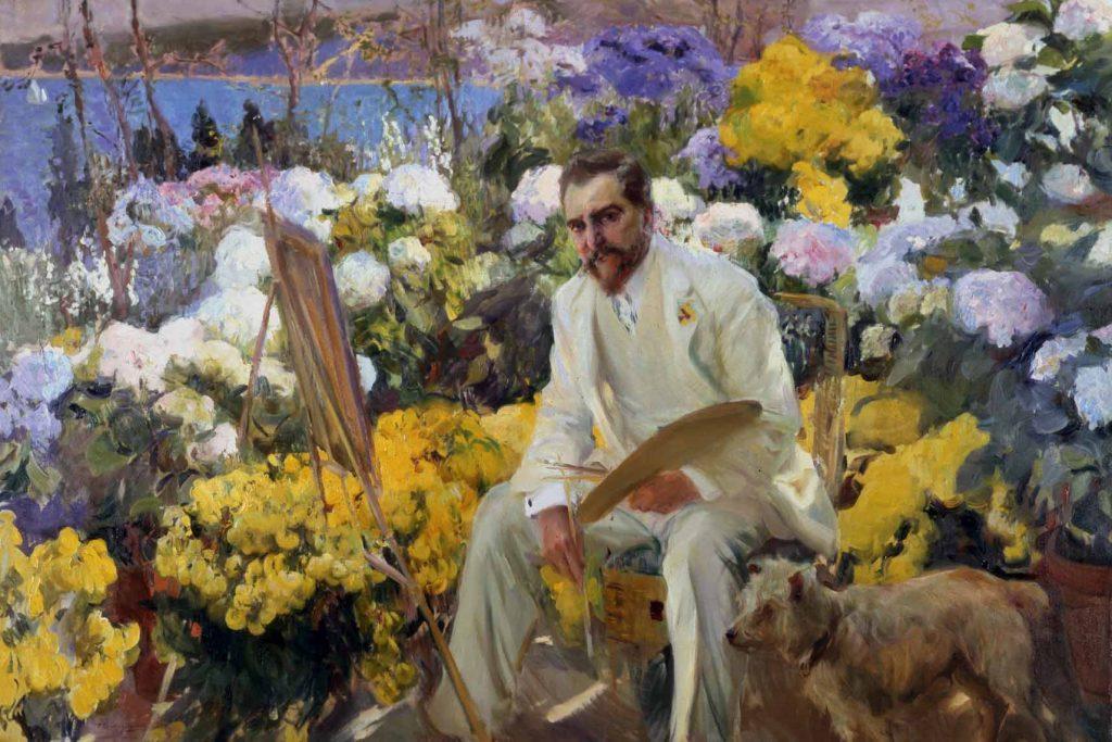 Louis Comfort Tiffany, por Joaquín Sorolla, 150 x 225,5 cm, préstamo de la Hispanic Society of America, NuevaYork.