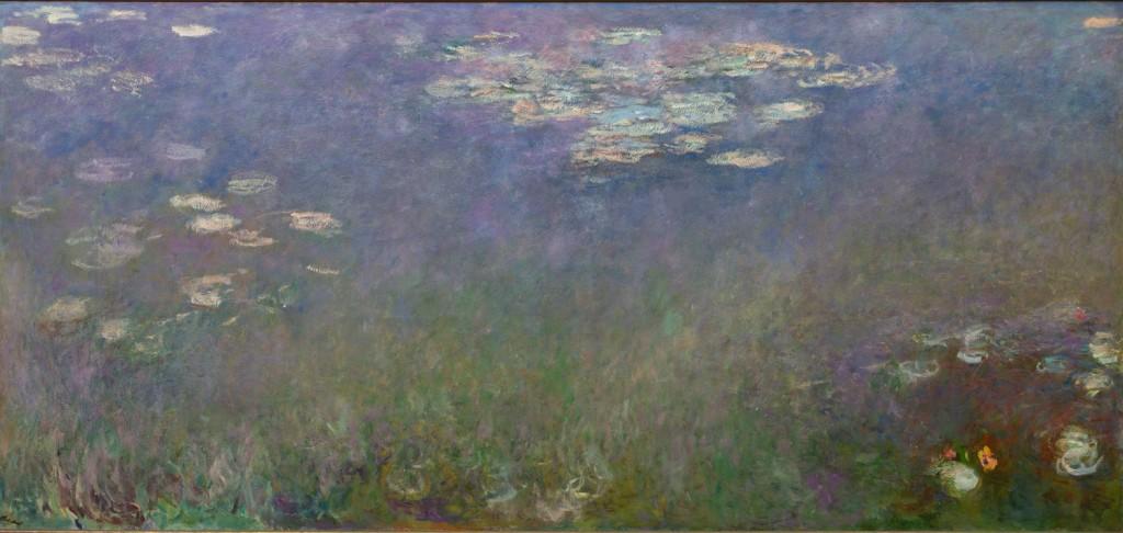 Nenúfares (Agapanthus), por Claude Monet, 1915-26, óleo sobre lienzo, 201,3 x 425,8 cm, The Cleveland Museum of Art.