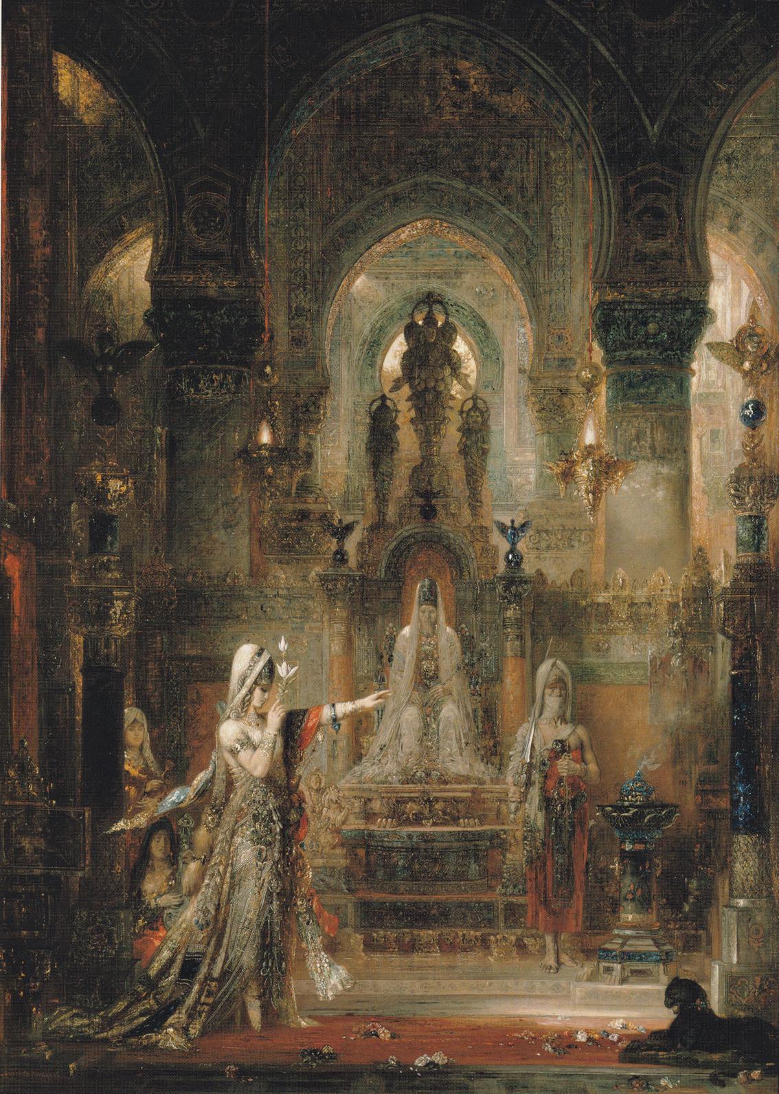 Salomé danzando delante de Herodes, de Gustave Moreau, 1874-76, óleo sobre lienzo, 143,5 x 104,3 cm, The Armand Hammer Collection; Gift of the Armand Hammer Foundation, Hammer Museum, Los Angeles. Photo: Robert Wedemeyer.