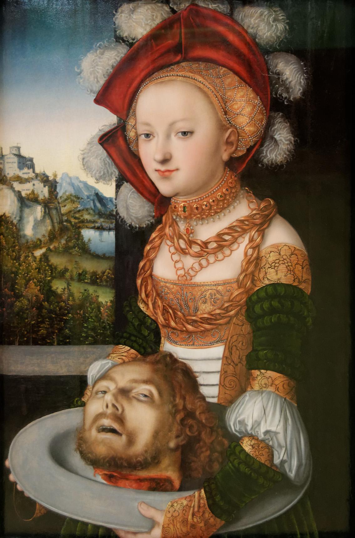 Salomé con la cabeza de san Juan Bautista, de Lucas Cranach.