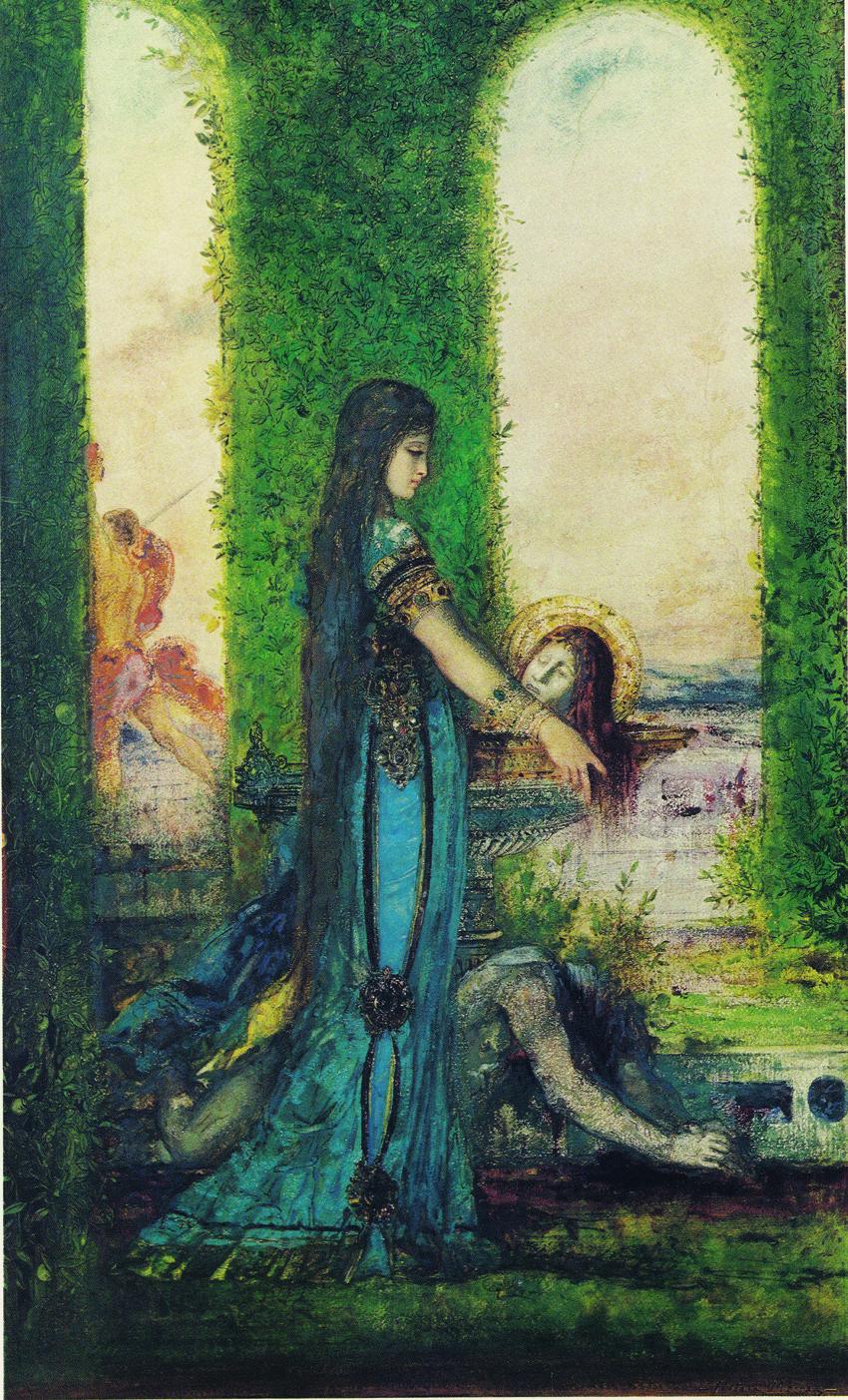 Salomé en el jardín, de Gustave Moreau, 1878, París, colección particular.
