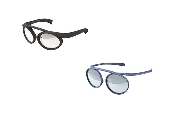 onturas de gafas y gafas de sol de Ron Arad para la firma pq Eyewear.