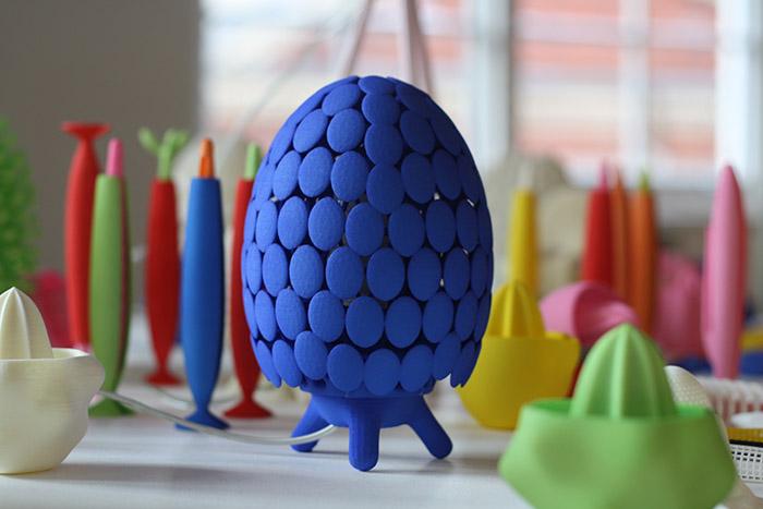 Lámparas de sobremesa Loop, de Assa Ashuach, con la tecnología digital Digital Forming.