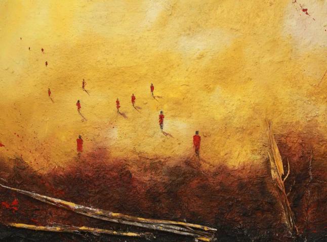 Una de las obras realizadas en su taller de Mombasa.