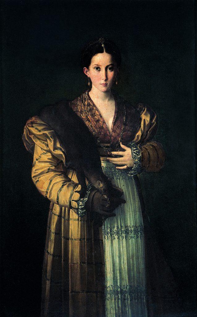 Antea, de Parmigianino, óleo sobre lienzo, Nápoles, Museo di Capodimonte.