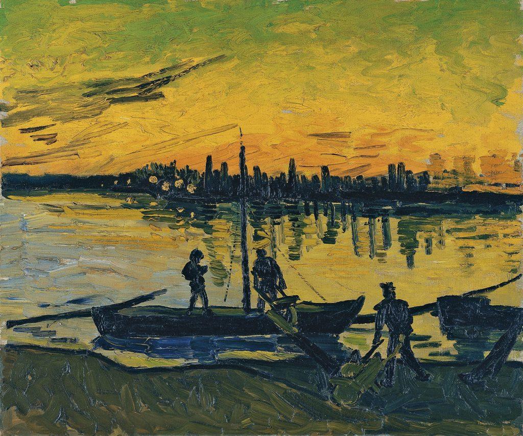 Los descargadores en Arles, de Vincent van Gogh, 1888, óleo sobre lienzo, 54 x 65 cm, Madrid, Museo Thyssen-Bornemisza.